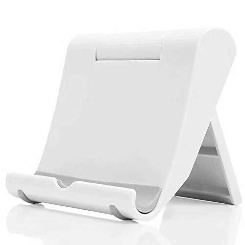 Suporte para tablet Zenvaa dobrável ajustável para celular projetado para iPhone Xs Max XR X 7 8 Plus, Samsung Galaxy Smartphone, Apple iPad Tablets e E-Readers