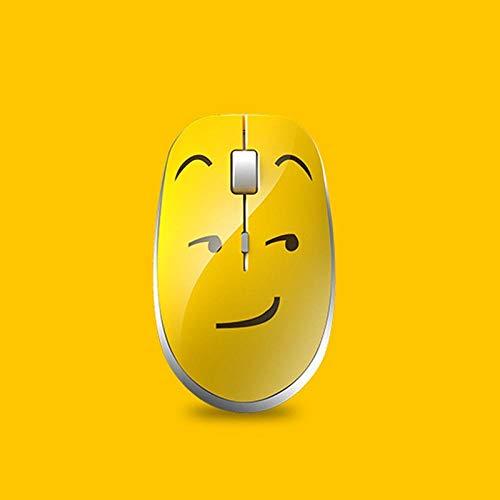 jackchen draadloze muis, super schattig stil creatief emoticon-pakket draadloze muis 2,4 g draadloze verbinding emoji Silent Mouse B.