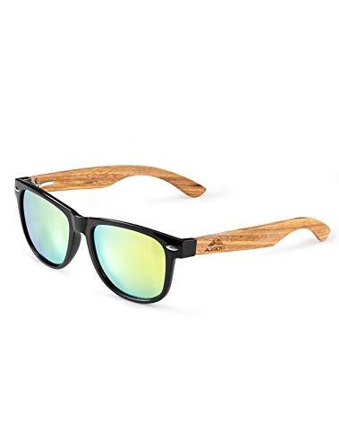 Amexi Gafas de Sol Polarizadas Hombre y Mujere, UV400 Protection, Gafas Ligeras con Patillas de Madera (Gelb) …