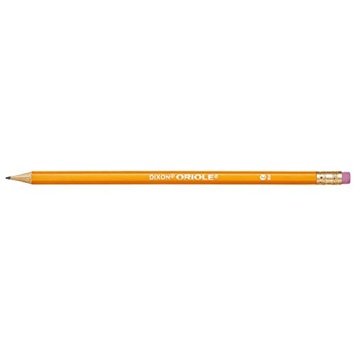 DIXON Oriole #2 Soft Pencils with Erasers, Pre-Sharpened, 6 Boxes of 12, 72 Pencils Total (12886SP)