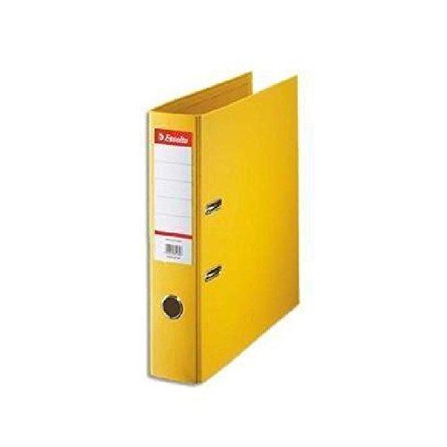 Esselte - Archivador de palanca (A4, lomo de 75 mm, 5 unidades), color amarillo