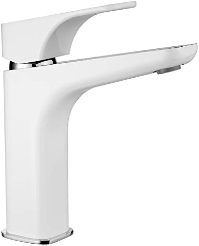 Hohe weie Einhebel Waschtischarmatur Badarmatur Wasserhahn für den Waschtisch - Modell HYAZINTHE - Wei Chrom
