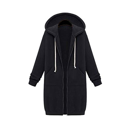 Herbst Und Winter Frauen Super Long Plus Velvet Plus David Kleidung Loose Hooded Cardigan