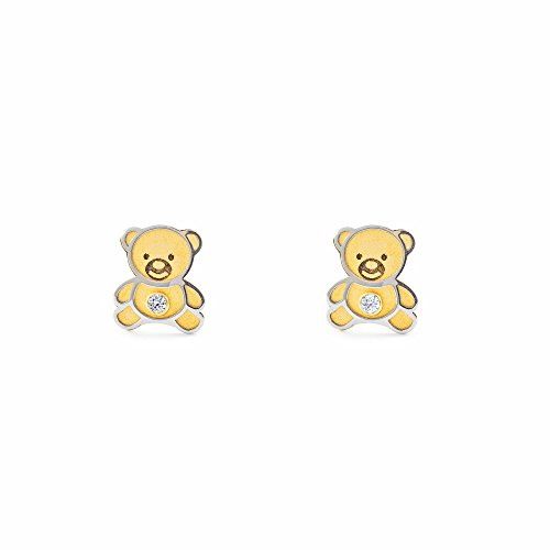 Monde Petit T1860PR - Ohrringe/Ohrstecker - Damen & Kinder teddy - bicolor 18 Karat (750)