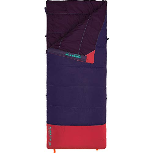 Kelty Kid's Callisto 30 Degree Sleeping Bag, Synthetic Cloudloft Bag with Daft Tube, Electronics Pocket, Anti-snag Zipper & More for Men & Women, Italian Plum