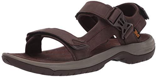 Teva Tanway Leather, Sandalias de Punta Descubierta Hombre, Marrón (Chocolate Brown Cobr), 42 EU