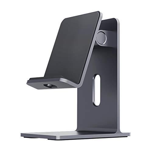 Hagibis Soporte de teléfono móvil Phone de Aluminio Ajustable con rotación, sporte para móvil de Escritorio y Base Antideslizante, Hueco para Carga y Adaptable a diversas Marcas de teléfonos
