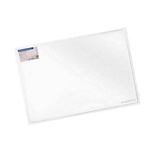 Schreibunterlage transparent groß OFFICE POINT | große klare Schreibtischunterlage mit glatter Oberfläche für Büro und Arbeitsplatz | abwischbar | rutschfest | glasklar | 50 x 70 cm