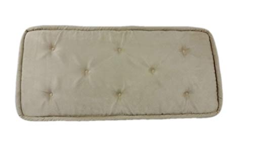 Find Discount Beige Piano Bench Cushion Pad Tufted (12-3/4 x 25)