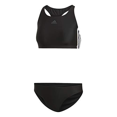 adidas Damen FIT 2PC 3S Swimsuit, Black, 48