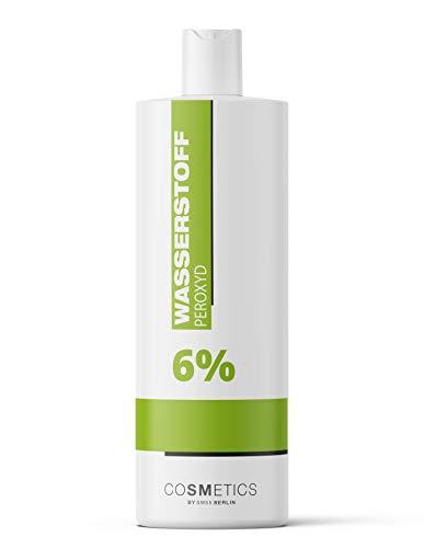 Wasserstoffperoxid 6 Prozent (1 Liter, flüssig) - Made in Germany - Oxidant 6 Prozent, Oxydant, Hydrogen Peroxid, Entwickler | Wasserstoffperoxyd 6 Prozent | Blondierung, Blondiermittel, Bleichmittel