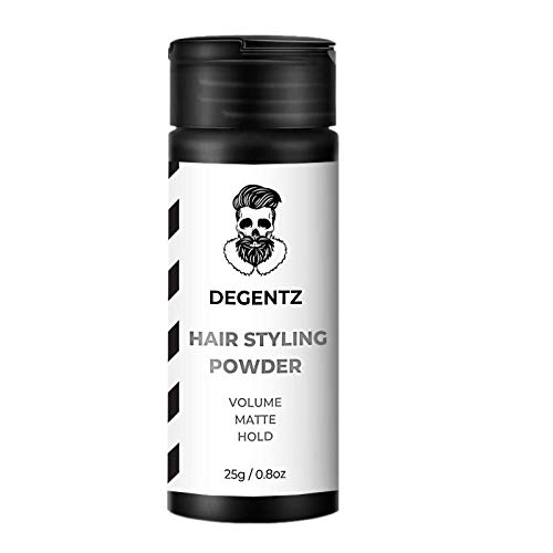 DEGENTZ King Sized Hair Styling Powder - Volumizing and Mattifying Hold (25g / 0.8oz) - Add Life and Texture without Grease - Non-Sticky, Natural Look