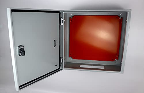 Cold Rolled Steel Electrical Box 16'' x 16'' x 8'' Indoor/Outdoor Electrical Enclosure Box 16