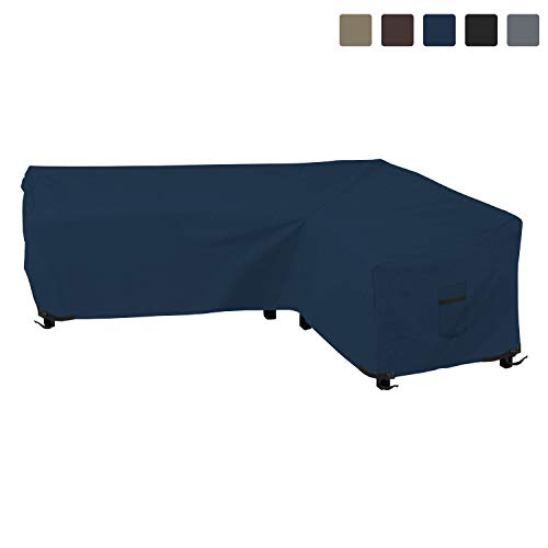 Patio Sectional Sofa Cover 12 Oz Waterproof - 100% UV & Weather Resistant PVC Coated 100\