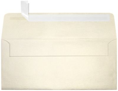LUXPaper #10 Square Flap Envelopes in 80 lb. Champagne Metallic, Printable Business Envelopes for Corporate Letters and Legal Documents with Peel and Press, 50 Pack, Envelope Size 4 1/8 x 9 1/2 (Gold)