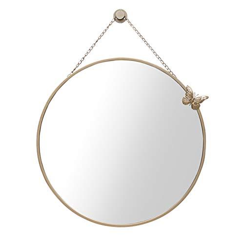 espejo de pared espejos pared decorativos vintage grandes recibidor redondos habitacion/espejo de pared grande barato rustico/espejo de baño pared antivaho/espejo redondo pared baño cuerda antioxida