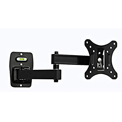 Iusun TV Wall Mount Bracket for 14''-26'' LED LCD Plasma TVs Full Motion Swivel Articulating Extension StudsHeavy Duty Steel Construction Provides 44LBS Loading VESA 100mm- Ship From USA