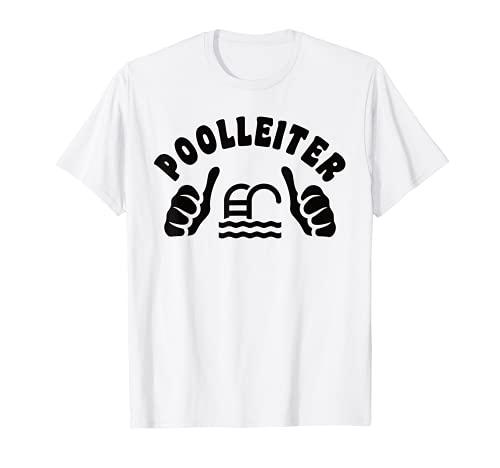 Échelle de piscine amusante pour homme T-Shirt