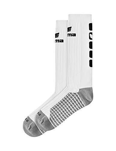 ERIMA Erwachsene Socken CLASSIC 5-C lang, weiß/schwarz, 43-46, 2181923