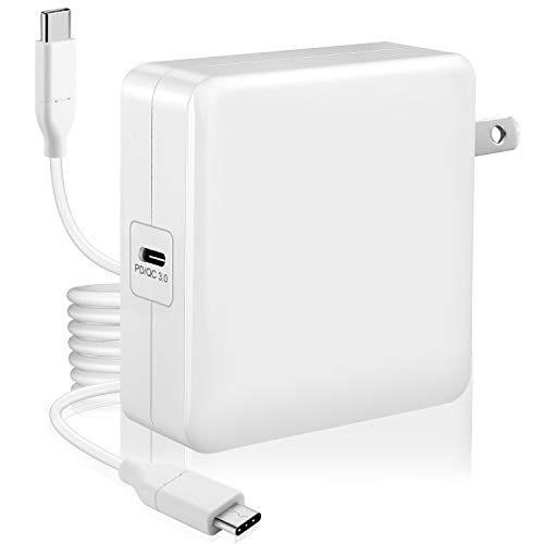 61w USB-C Power Adapter Compatible with Macbook Pro Charger USB C 61w New Macbook Air Charger 2018 13 Mac Thunderbolt Charger 2016 15 2017 Type C Laptop Charger More Devices (61w)