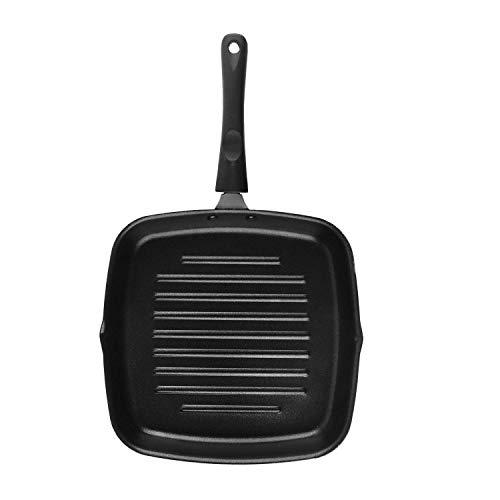 Cello Non Stick Grill Pan Square Black- Non Induction Compatible