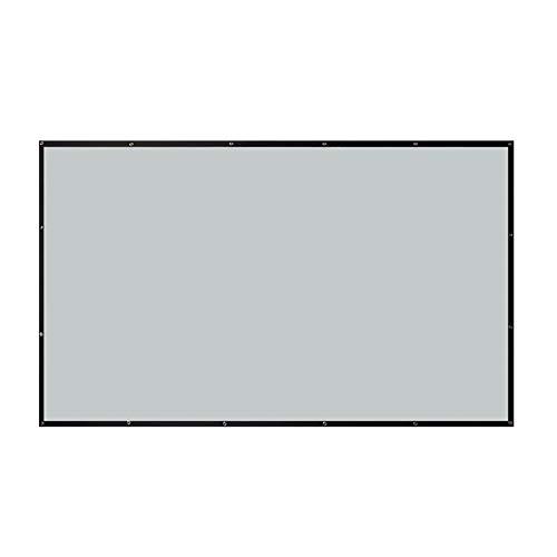 Pantalla De Proyección, 4k HD Portátil Proyección Trasera Pantalla De Proyector Antiarrugas Plegable con Ganchos Tela Proyector para Cine En Casa Al Aire Libre En Interiores,4:3,100inch