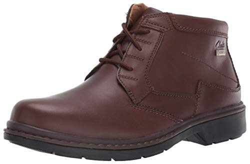 Clarks Men's Rockie Hi GTX Ankle Boot, Brown Waterproof Leather, 115 W US