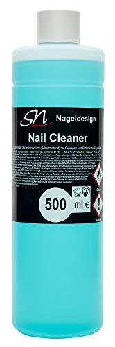 SN Nail Cleaner und Nagel Entfetter 500ml grün für Gelnägel und UV Nagellack Schwitzschicht Entferner Cleanser für Nägel