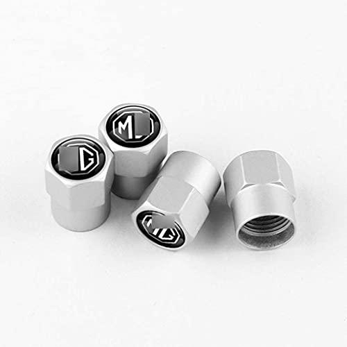 4 Piezas Metal Válvula De Neumático De Automóvil para M-G ZS M-G 3 M-G 5 M-G 6 M-G 7 GT HS, Ruedas Cubierta de Polvo Tapas, Aire de vástago de neumático Cubiertas herméticas