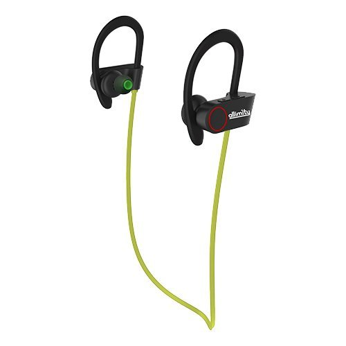 ALLIMITY Bluetooth Headphones Wireless Sports Earphones with Mic Sweatproof in Ear Earbuds Headset for Gym, Running, Cycling, Jogging(Green)[Upgraded Version]