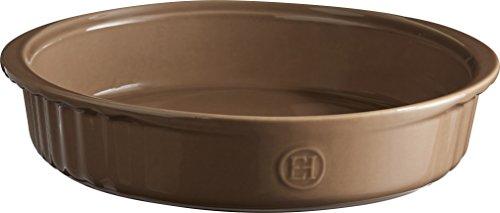 Emile Henry Eh966280 Moule Rond à Manqué Céramique Marron Chêne 28 X 26 X 6 cm