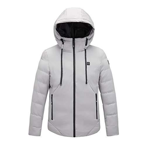 Chaquetas de plumón de las mujeres Chaleco de Down de algodón para hombre de las mujeres al aire libre abrigo de calefacción eléctrica USB con capucha chaqueta caliente de invierno térmica abrigo