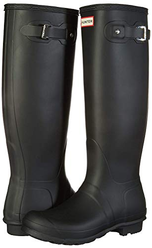 Hunter Women's Original Tall Rain Boot (11 M US, Black/MATT)