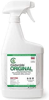 Cedarcide Original (Quart) Cedar Oil Biting Insect Spray Kills and Repels Fleas, Ticks, Ants, Mites and Mosquitoes Indoor Cedar Oil Formula