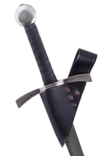 Battle-Merchant Soporte de cinturón de Espada Simple Hecho de Cuero para Cuchillas de hasta 5.5 cm