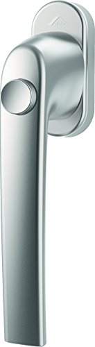 Fenstergriff Roto Samba Druckknopf natursilber mit Schrauben Vierkantstift 7 x 43 mm