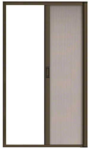 "CRL RDS84BRZ Bronze 84"" Euro Retractable Screen Door Kit"