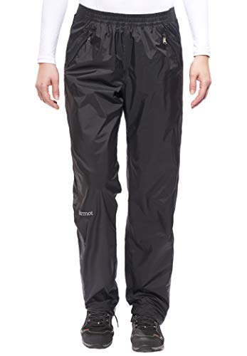 Marmot 46260L-001-6 Pantalon Long PreCip Full Zip Femme Black FR: XL (Taille Fabricant: XL)