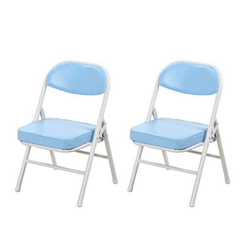 JIEER-C vrijetijdsstoelen, klapstoel, draagbaar, voor kinderen, metalen frame, leerstoel, zacht PU Roze