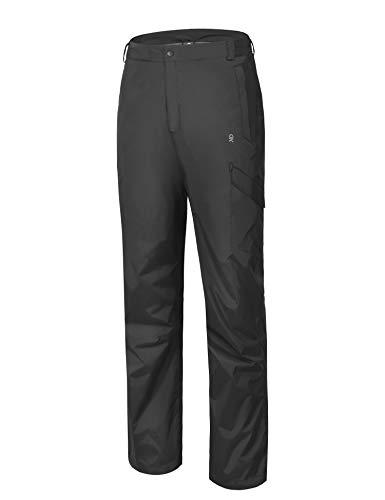 Little Donkey Andy Rain Pants for Men Lightweight Waterproof Outdoor Pants Black Size S