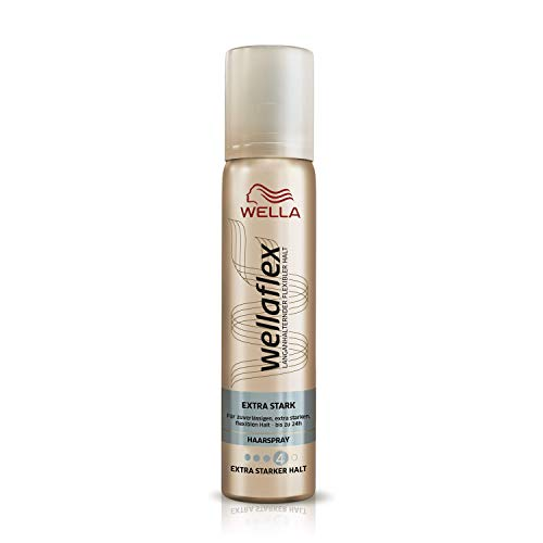 Wella Wellaflex Extra Stark Haarspray für bis zu 24h, Mini Größe (1 x 75 ml)