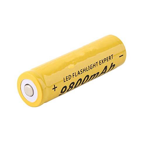 RitzyRose 18650 3,7 V 9800 mAh batería de iones de litio, recargable para el mando a distancia de la linterna, 1 unidad