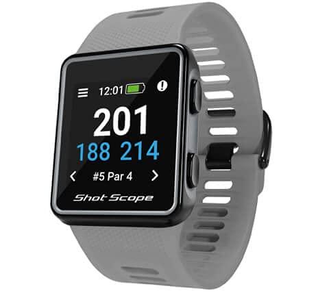 Shot Scope G3 GPS-Uhr - F/M/B + Gefahrenentfernungen - iOS- & Android-Apps - Farbbildschirm - 36.000+ vorinstallierte Kurse - Keine Abonnements