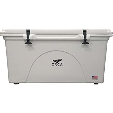 ORCA ORCW058 Cooler with Extendable flex-grip handles for comfortable solo or tandem portage, 58 quart, White