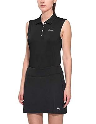 BALEAF Women's Golf Sleeveless Polo Shirts Tennis Tank Tops Quick Dry UPF 50+ Black Size XXL