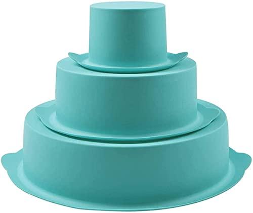 Juego de moldes redondos de silicona para tartas de 3 niveles, 20 cm, 6 cm, 3 pulgadas para cumpleaños, aniversario de boda, Halloween, fiesta de Navidad