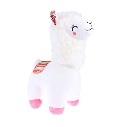 STOBOK süßes Plüschtier Alpaka Wurfkissen Plüschtier Stofftier Puppe für Baby Kinder Mädchen Weihnachten Geburtstagsgeschenk (weiß)