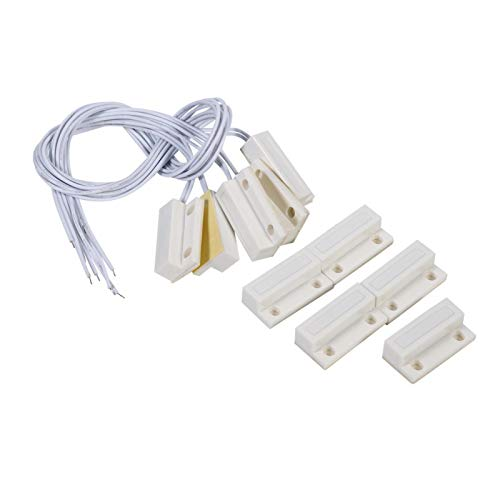 Alvinlite Interruptor magnético, Sensor de Ventana de Puerta con Cable MC-38, Interruptor magnético Interruptor magnético Empotrado Alarma para el hogar Sistema de Alarma para el hogar