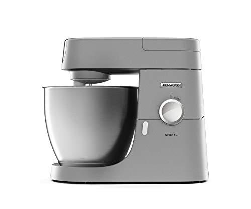 Kenwood Chef XL KVL 4110S – Küchenmaschine, 6,7 l Edelstahl-Rührschüssel & 1,5 l Acryl-Mixaufsatz, multifunktionaler Küchenhelfer, 1200 W, inkl. 3-teiligem Patisserie-Set, silber
