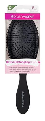 Brushworks Oval Detangling Hair Brush Brosse démélante ovale Black